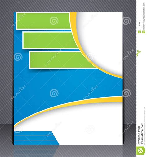 Layout Of A Cover | layout business brochure template or magazine co stock