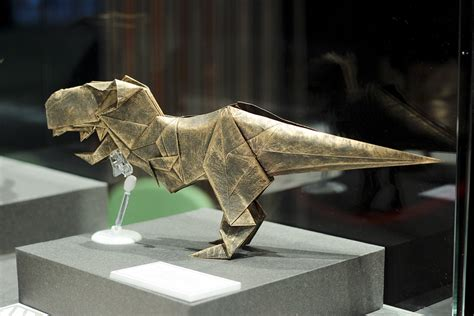 Origami T Rex - some of the best origami i ve seen in 65 million years
