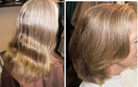 before after hair color cut lowlights highlights