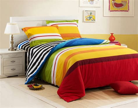 4 piece luxury stripes comforter sets rainbow island