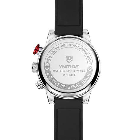 Jam Tangan Pria Original Murah Igear Digital Silver Hitam Gold weide jam tangan analog digital pria wh6301 black