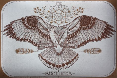 new avett brothers gig posters by david hale 411posters
