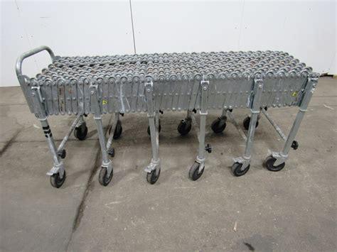 adjustable expandable gravity wheel 9 roller conveyor flexible table t1732 ebay fmh nestaflex 22614020 226 flexible adjustable gravity