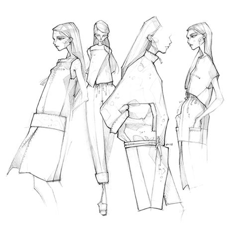 fashion illustration milan zejak 2015 sketches on behance