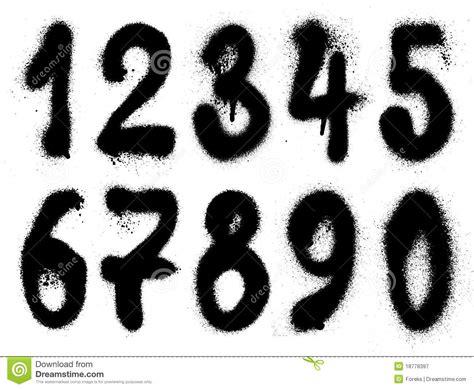 hand drawn graffiti grunge numbers stock vector image