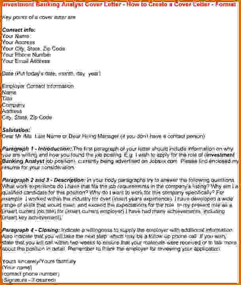 cover letter template investment banking 33 images