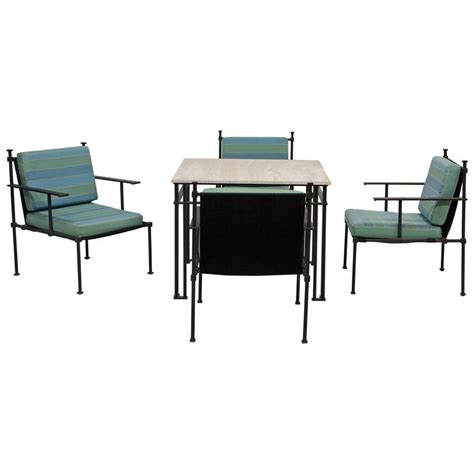 Card Tables With Chairs by Vintage Card Table With Set Of Four Chairs At 1stdibs