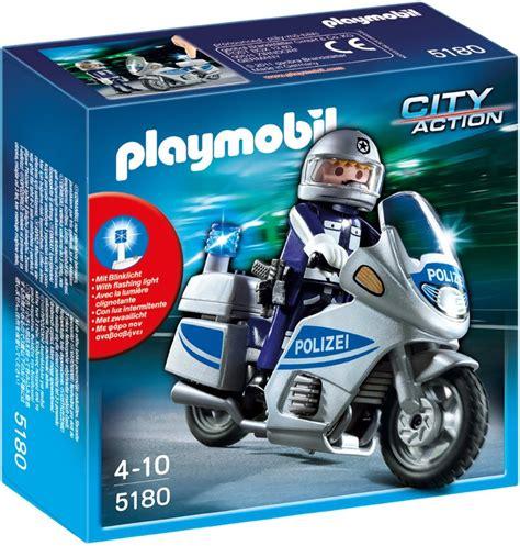 Bauernhof Motorrad Spiele by Playmobil Polizeimotorrad Mit Blinklicht Schneller