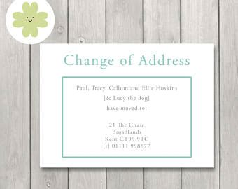 change of address announcement template address change cards etsy