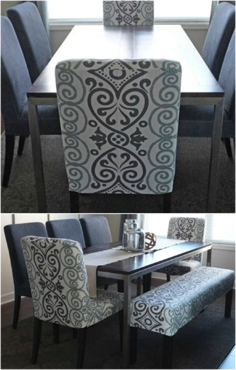 diy dining chair slipcovers 20 easy to make diy slipcovers that add new style to old