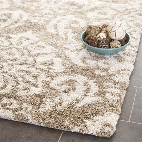 10 ft diameter rug beige ultimate power loomed shag area rug 4 x 6 ebay