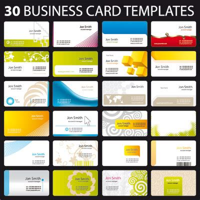 free template printable business cards 30 business card templates free vector graphics