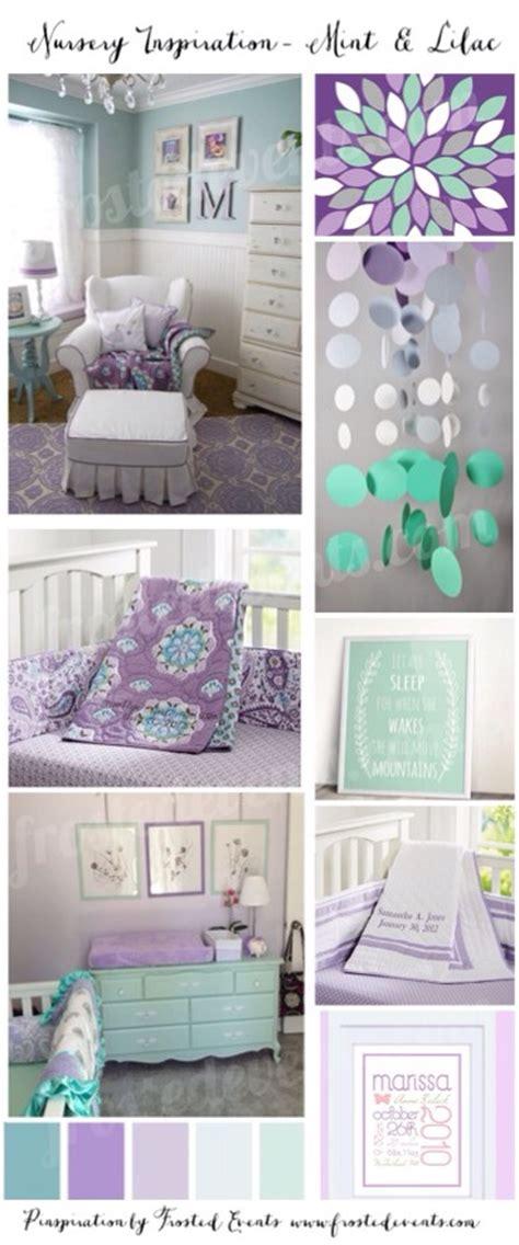 lilac nursery decor mint and lilac nursery
