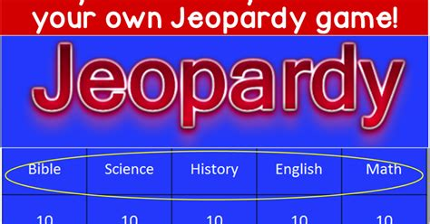 Free Easy Create Your Own Jeopardy Game Joy In The Journey Create Your Own Jeopardy Powerpoint