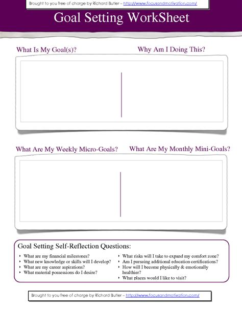 personal goals template best photos of personal goal worksheet template personal
