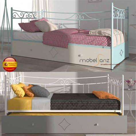 cama divan forja cama divan nido de arrastre en forja con frete de madera