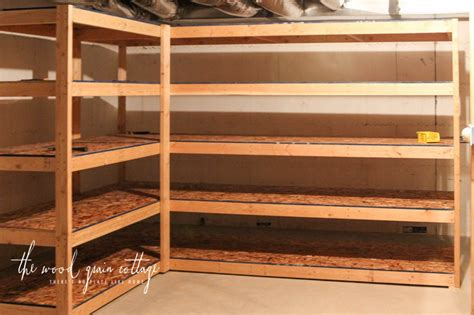 building basement shelves diy wood storage shelf plans