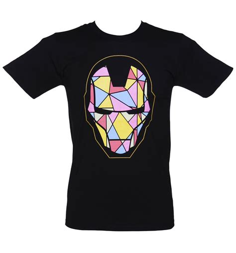 mens iron man stained glass graphic shirt bre mens