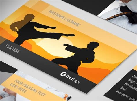 Martial Arts Business Card Templates by Martial Arts Instructor School Business Card Template