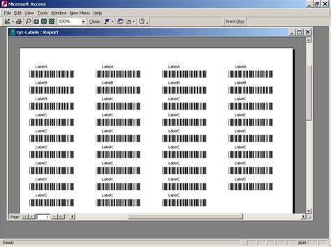 Barcode Label Template Excel