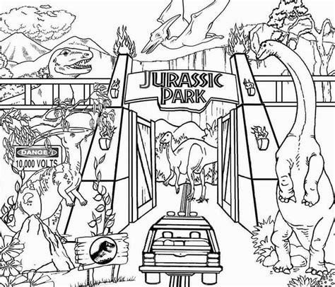 Jurassic Park Coloring Pages free printable jurassic world coloring pages