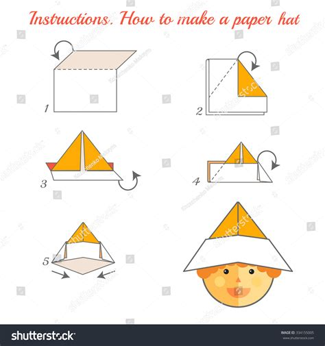 How To Make A Flat Brimmed Paper Hat - how to make a flat brimmed paper hat paper hat template