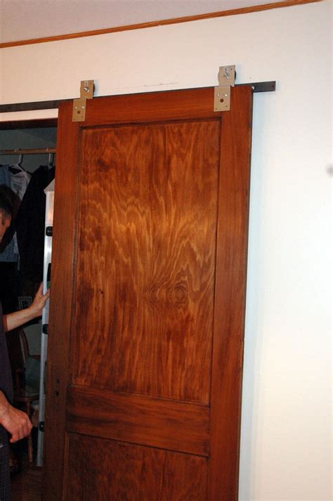 How To Make Sliding Barn Door Hardware Diy Sliding Barn Door Redo
