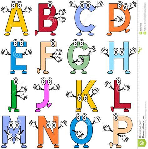 lettere alfabeto divertenti alfabeto divertente fumetto 1 immagini stock