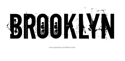 brooklyn tattoo name designs