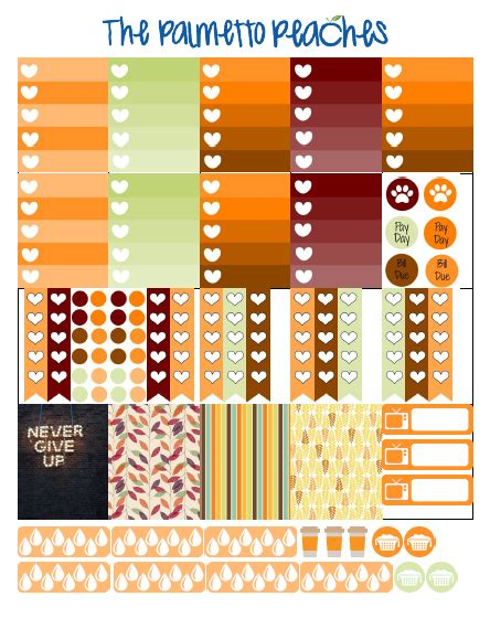 october printable planner stickers free printable october planner stickers from the palmetto