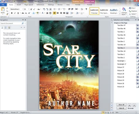 design book cover using microsoft word how to design your own book covers in ms word