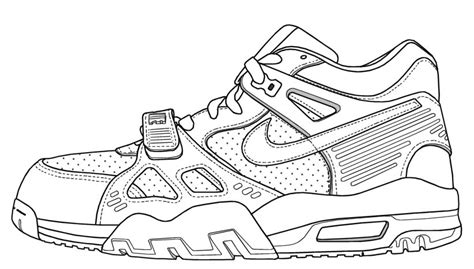 nike shoe template free coloring pages of nike trainer