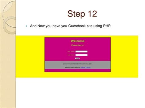 tutorial create website using php using php to design a guestbook website tutorial