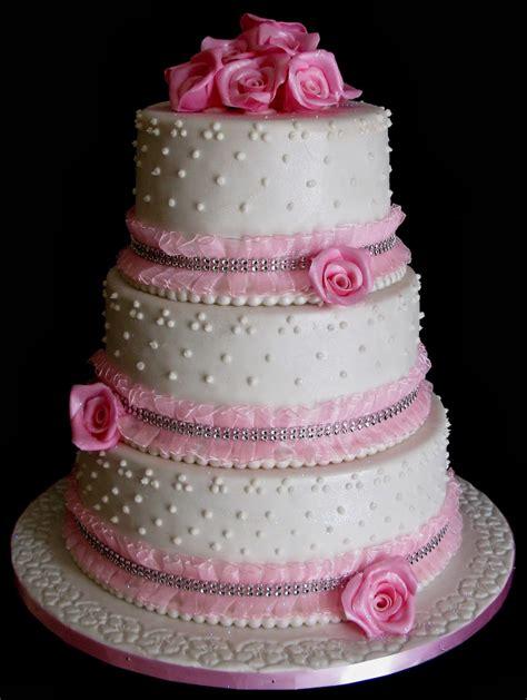 wedding cake layers sugarcraft by soni three layer wedding cake pink roses