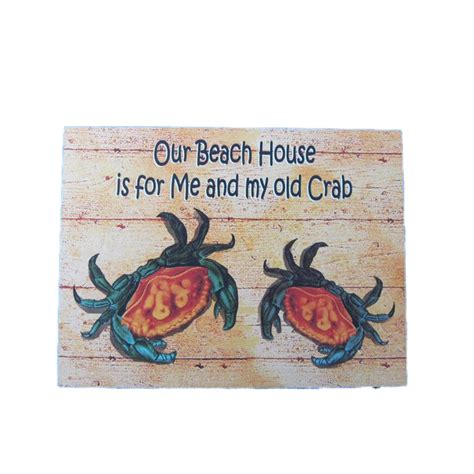 beach home decor wholesale buy wooden my old crab beach house sign 16 inch