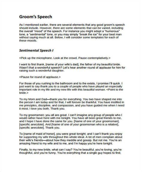 37 Speech Formats Sle Templates Groom Speech Template