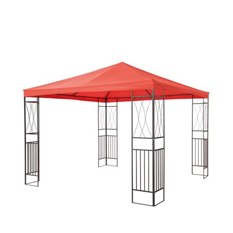 pavillon terrakotta tepro garten pavillon gartenpavillon 3x3 m kaemi terracotta
