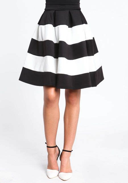 midi black and white skirt wish list a