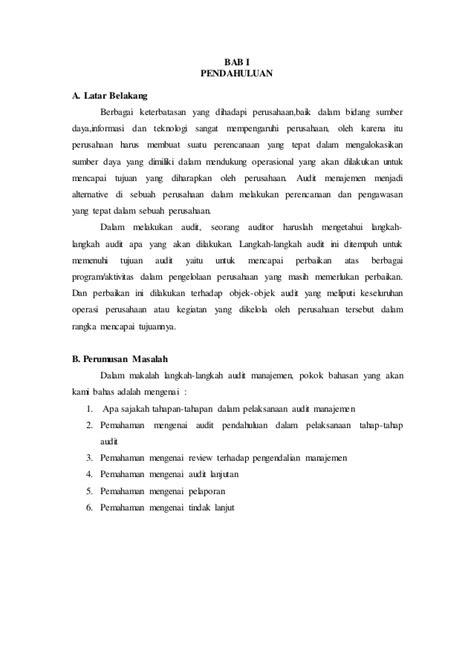 Format Makalah Bab 2 | makalah bab 2 audit manajemen