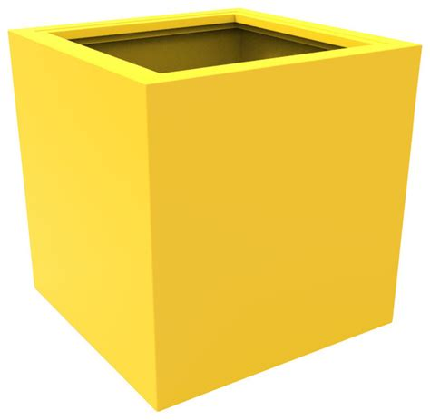 large athens planter yellow modern outdoor pots and