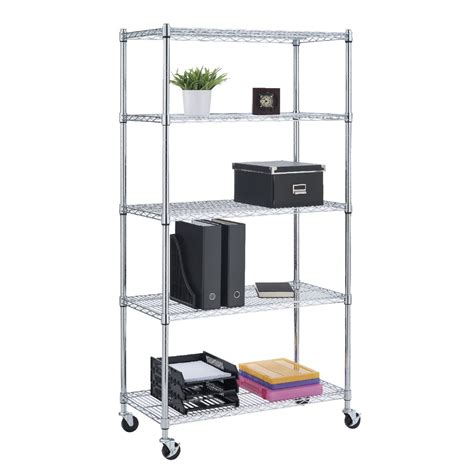 wire shelving 5 tier wire shelving unit