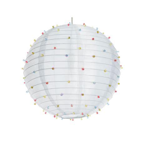 beaded pendant light shade colours white beaded pendant light shade d 405mm