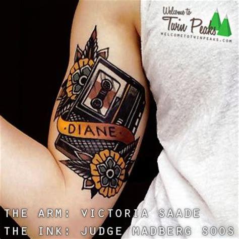 twin peaks tattoo peaks diane tattoos piercings