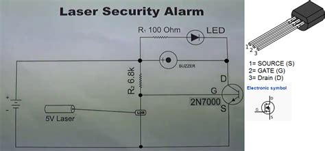 project theory simplest laser based security alarm using
