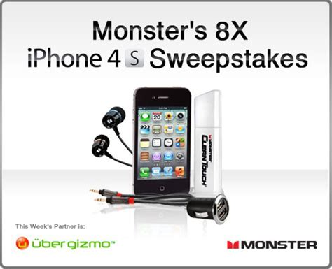 Iphone 4s Giveaway - iphone 4s monster accessory pack giveaway ubergizmo