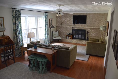 family room makeovers tutorial how to paint a brick fireplace