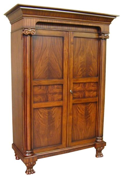 traditional armoire armoire federal mahogany philadelphia traditional