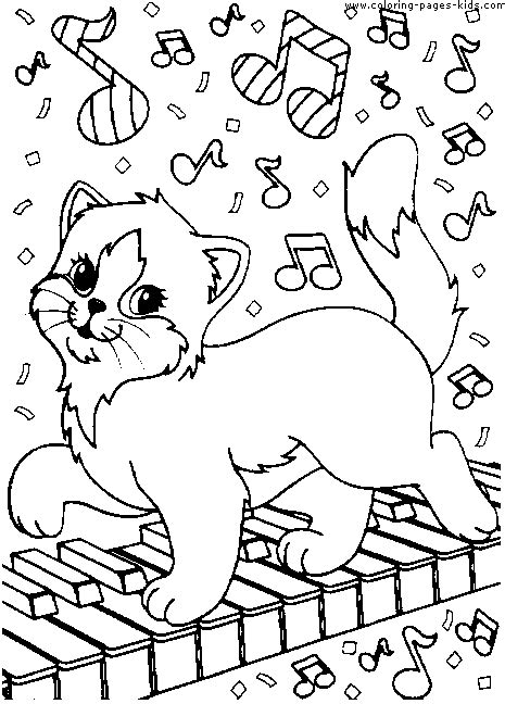 cats playing coloring pages cat playing the piano color page free printable coloring