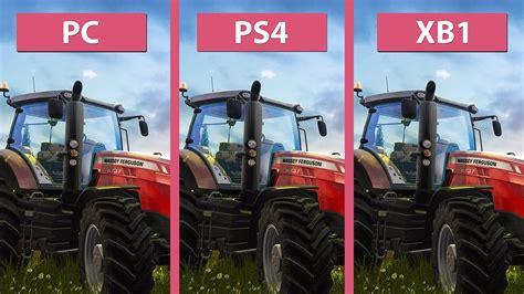 one ls farming simulator 2017 pc vs ps4 vs xbox one graphics