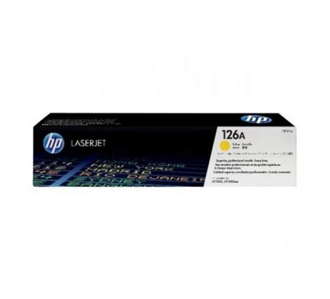 Toner Hp 126a Yellow toner hp ce312a 126a yellow achat vente hp 170316